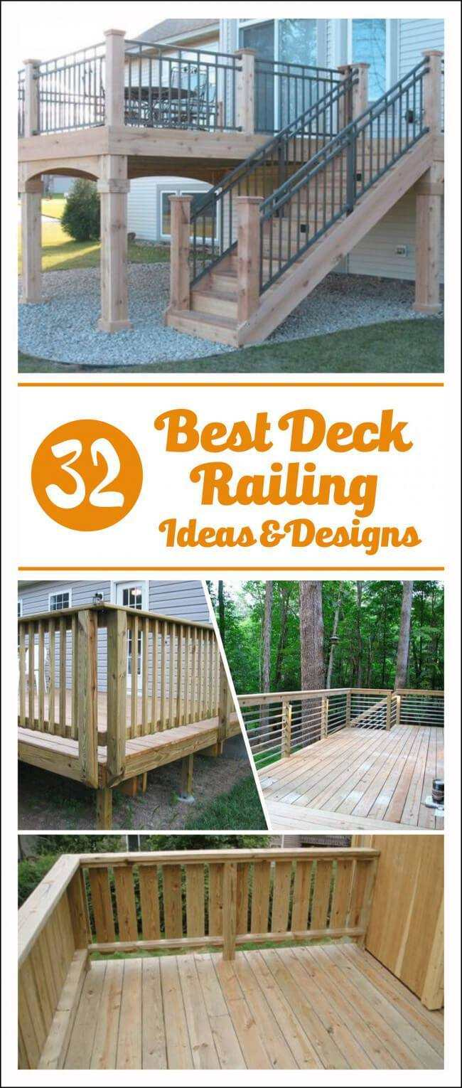 white deck railing ideas