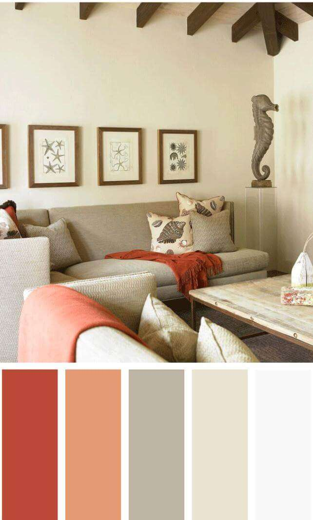 color schemes for living room with brown sofa