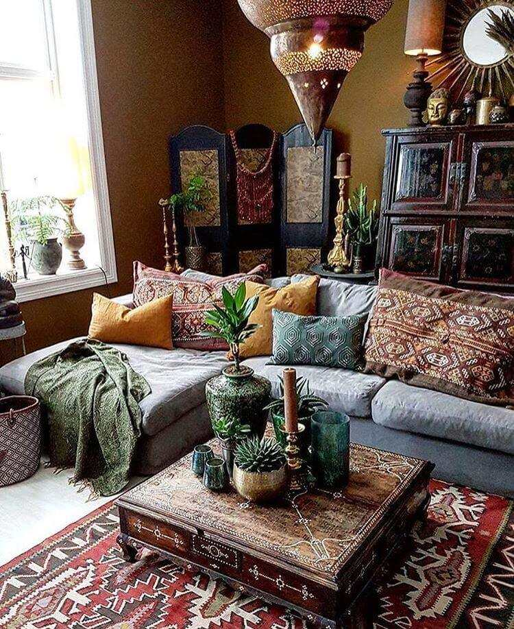 bohemian decor on a budget
