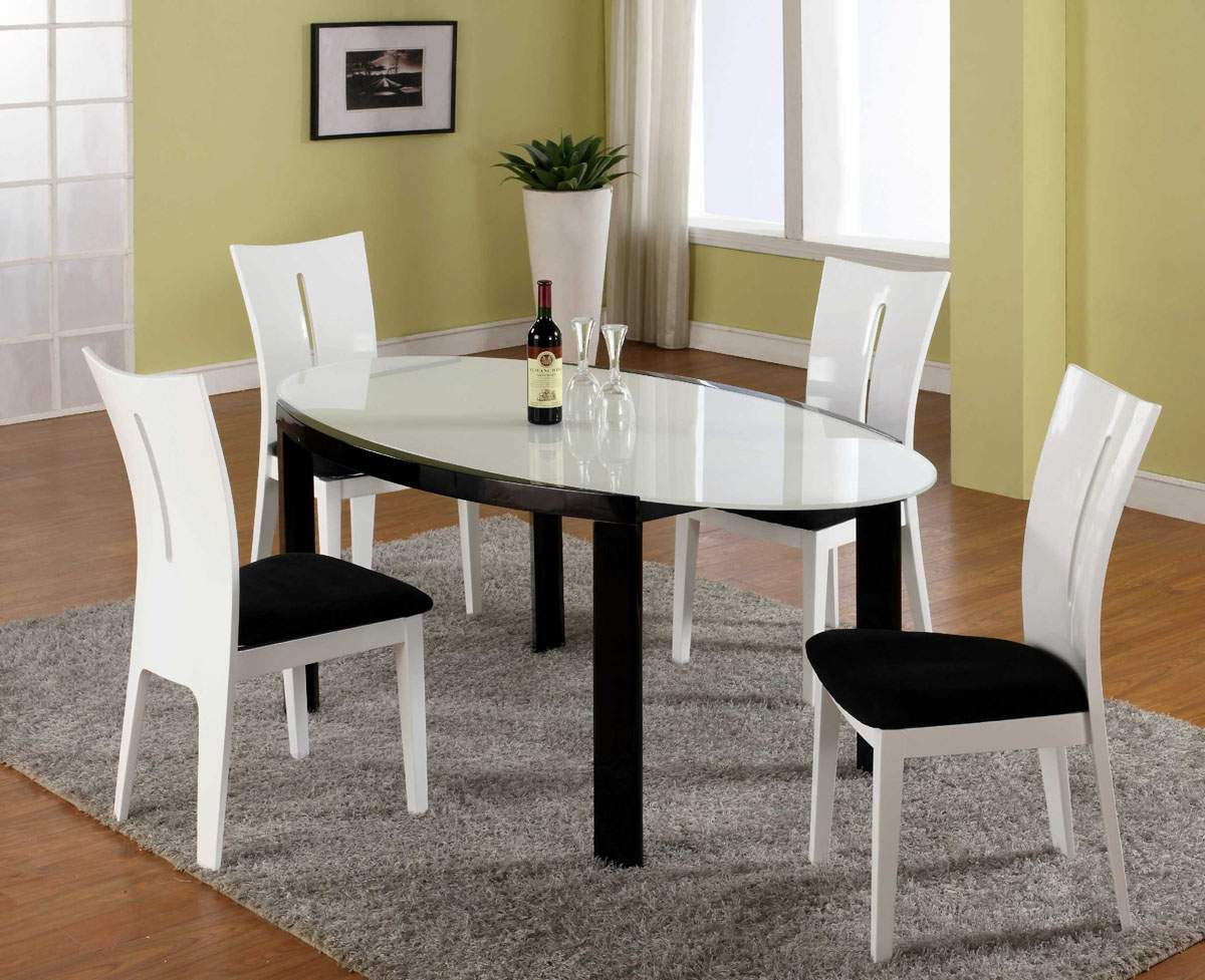 Black And White Dining Room Set   Home Decor   Renovation Ideas Modern Black Dining Room Tables Round Table Set Copy Cheap Dining Room  Chairs Charming Of 6