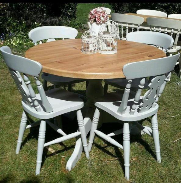 cheap dining table and chairs Top 50 Shabby Chic Round Dining Table and Chairs - Home