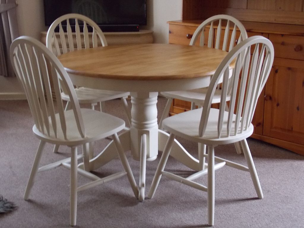 Top 50 Shabby Chic Round Dining Table And Chairs Home Decor Ideas UK