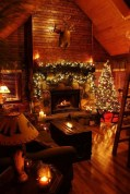 Inspiring Rustic Christmas Fireplace Ideas To Makes Your Home Warmer 44