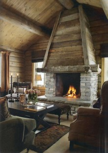 Inspiring Rustic Christmas Fireplace Ideas To Makes Your Home Warmer 79