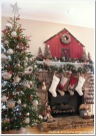 Inspiring Rustic Christmas Fireplace Ideas To Makes Your Home Warmer 85