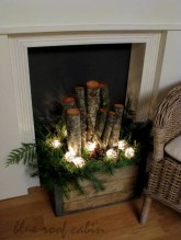 Inspiring Rustic Christmas Fireplace Ideas To Makes Your Home Warmer 99