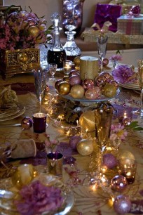 Adorable Pink And Purple Christmas Decoration Ideas 07
