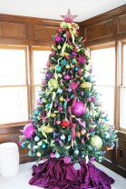 Adorable Pink And Purple Christmas Decoration Ideas 09