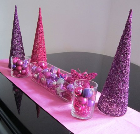 Adorable Pink And Purple Christmas Decoration Ideas 36