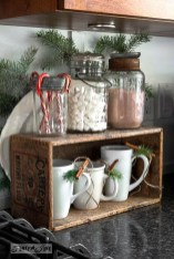 Adorable Rustic Christmas Kitchen Decoration Ideas 24