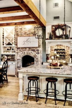 Adorable Rustic Christmas Kitchen Decoration Ideas 53