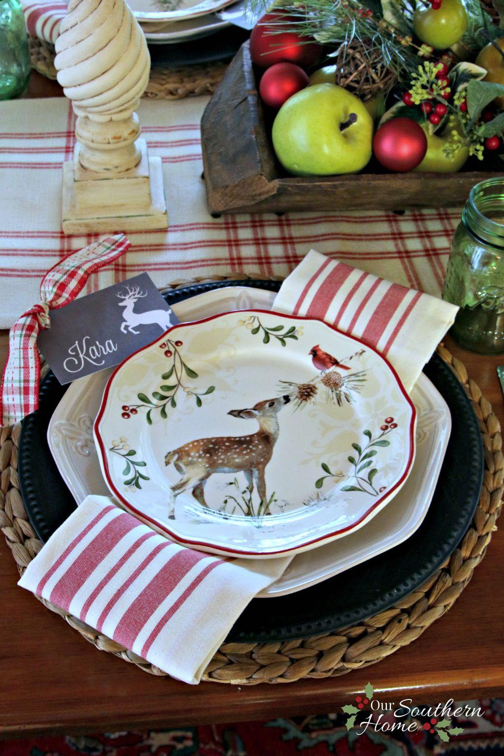 Adorable Rustic Christmas Kitchen Decoration Ideas 72