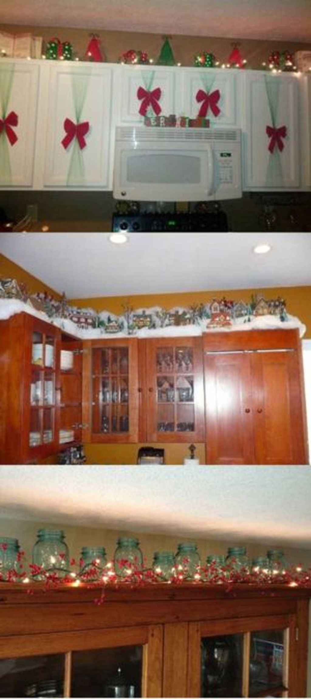 Adorable Rustic Christmas Kitchen Decoration Ideas 85
