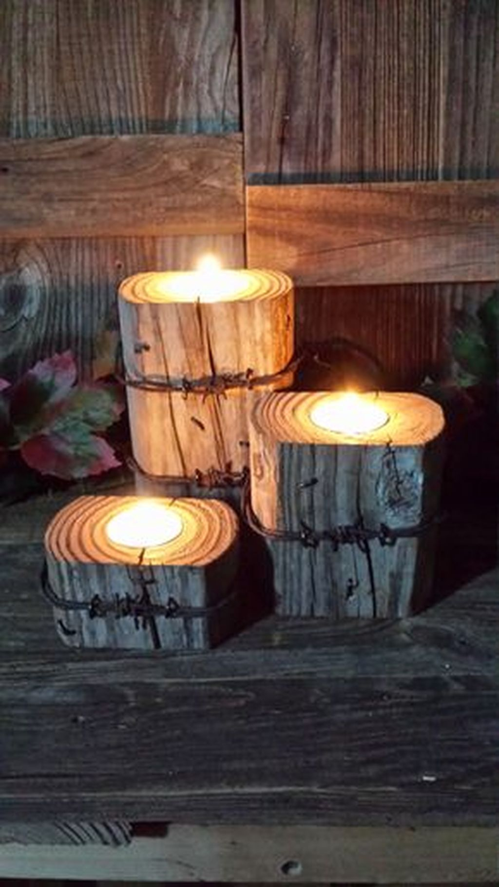 Creative DIY Christmas Candle Holders Ideas To Makes Your Room More Cheerful 15