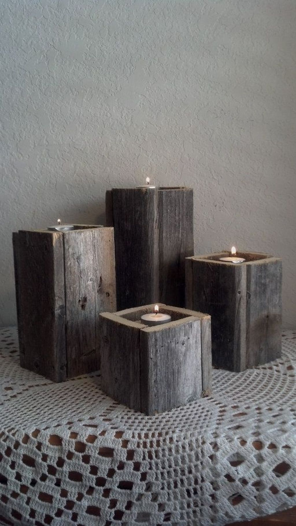 Creative DIY Christmas Candle Holders Ideas To Makes Your Room More Cheerful 16