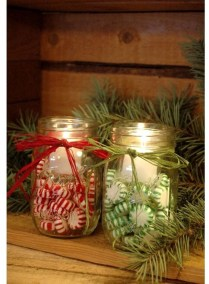 Creative DIY Christmas Candle Holders Ideas To Makes Your Room More Cheerful 31