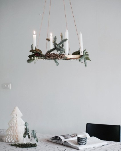 Creative DIY Christmas Candle Holders Ideas To Makes Your Room More Cheerful 75