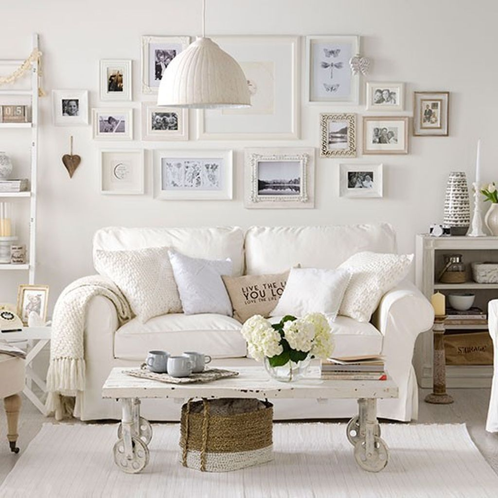 Creative DIY Shabby Chic Decoration Ideas For Your Living Room 15