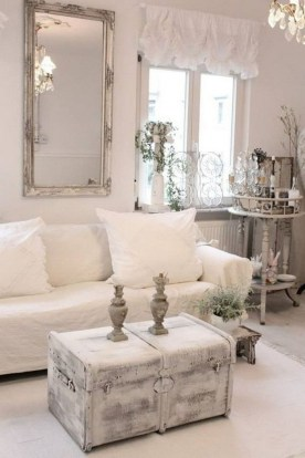 Creative DIY Shabby Chic Decoration Ideas For Your Living Room 26