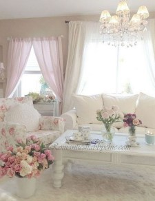 Creative DIY Shabby Chic Decoration Ideas For Your Living Room 32