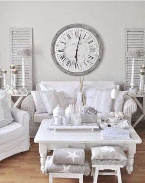 Creative DIY Shabby Chic Decoration Ideas For Your Living Room 34
