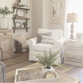 Creative DIY Shabby Chic Decoration Ideas For Your Living Room 49