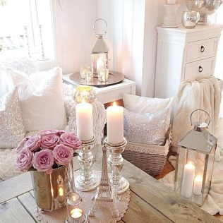 Creative DIY Shabby Chic Decoration Ideas For Your Living Room 68