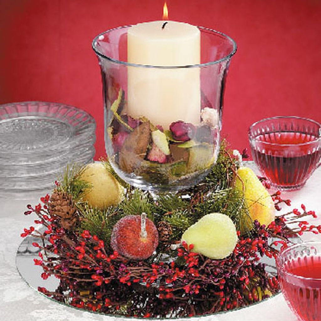 Xmas Table Centerpieces Ideas: Easy And Simple Christmas Table Centerpieces Ideas For