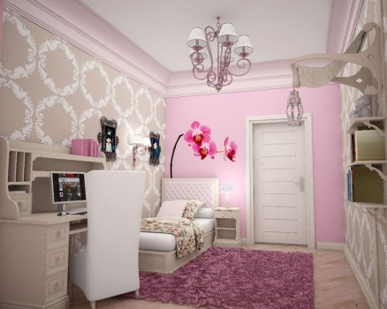 Elegant Teenage Girls Bedroom Decoration Ideas 17