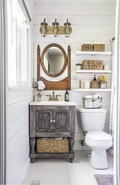 Inspiring Rustic Bathroom Vanity Remodel Ideas 16