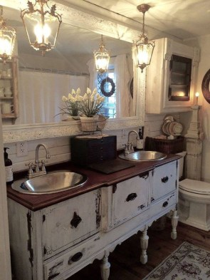 Inspiring Rustic Bathroom Vanity Remodel Ideas 45