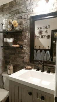 Inspiring Rustic Bathroom Vanity Remodel Ideas 47