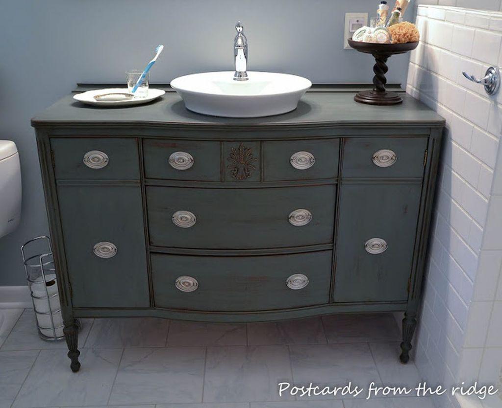 Inspiring Rustic Bathroom Vanity Remodel Ideas 54