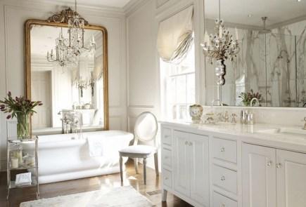 Romantic And Elegant Bathroom Design Ideas With Chandeliers 06