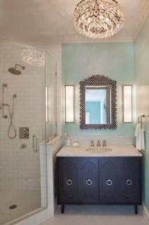 Romantic And Elegant Bathroom Design Ideas With Chandeliers 08