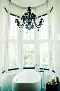 Romantic And Elegant Bathroom Design Ideas With Chandeliers 26