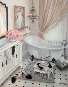 Romantic And Elegant Bathroom Design Ideas With Chandeliers 38