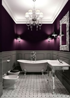 Romantic And Elegant Bathroom Design Ideas With Chandeliers 39