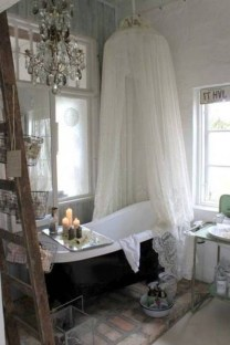 Romantic And Elegant Bathroom Design Ideas With Chandeliers 46