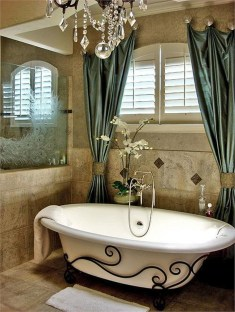 Romantic And Elegant Bathroom Design Ideas With Chandeliers 49