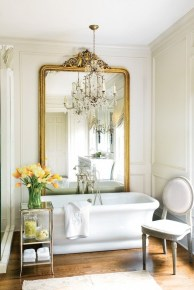 Romantic And Elegant Bathroom Design Ideas With Chandeliers 58