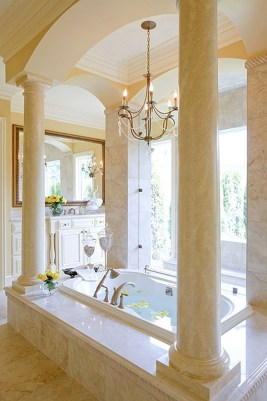 Romantic And Elegant Bathroom Design Ideas With Chandeliers 62