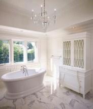 Romantic And Elegant Bathroom Design Ideas With Chandeliers 87