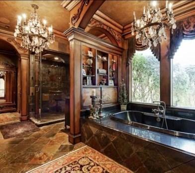 Romantic And Elegant Bathroom Design Ideas With Chandeliers 99