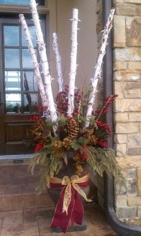 Simple But Beautiful Front Door Christmas Decoration Ideas 33