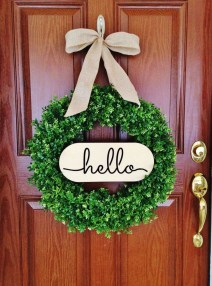 Simple But Beautiful Front Door Christmas Decoration Ideas 46