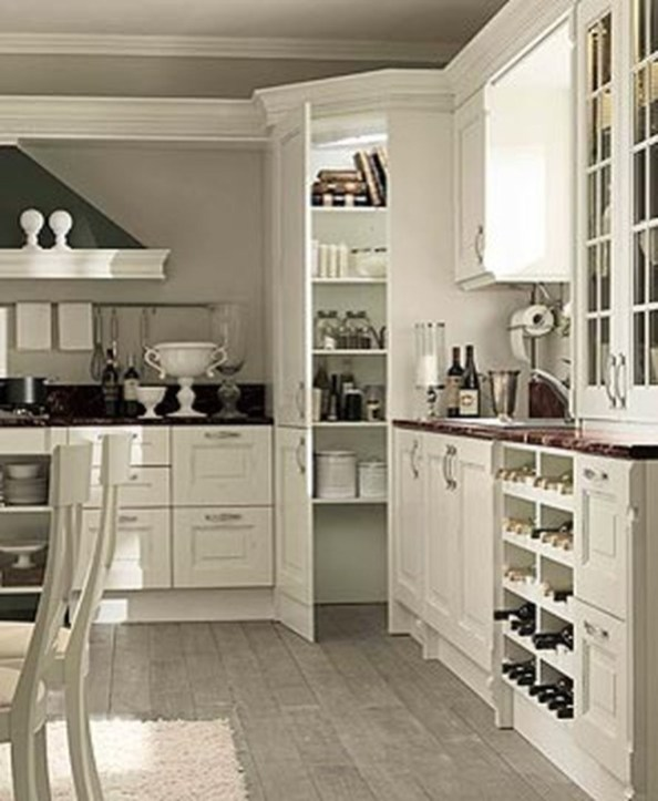 Totally Outstanding Traditional Kitchen Decoration Ideas 154