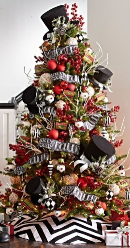 Unique And Unusual Black Christmas Tree Decoration Ideas 36