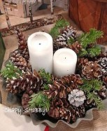 36 Brilliant Ideas How To Use Pinecone For Indoor Christmas Decoration 34