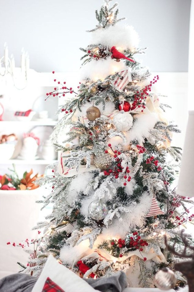 40 Ezciting Silver And White Christmas Tree Decoration Ideas 40